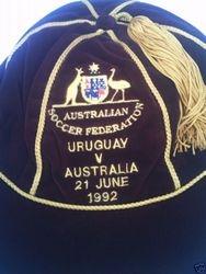 Australia Football cap v Uruguay 1992