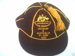 Australian football cap v Uruguay 1992