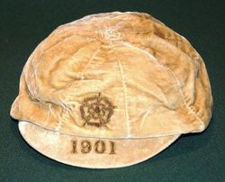 England football cap v Ireland 1901