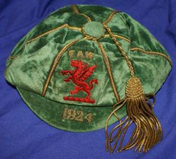 Classic Wales International Football Cap 1924