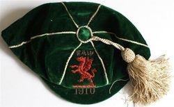 Ernie Peake Wales Football Cap 1910