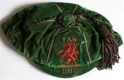 Ernie Peake Wales Football Cap 1912