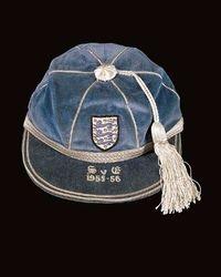 Norman Taylor's England Football Cap v Scotland 1955-56