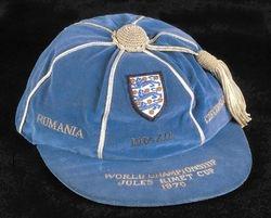 Gordon Banks' England cap 1970 World Cup