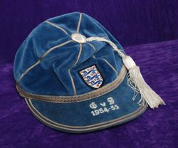 Duncan Edwards' England International Football Cap v Scotland 1954-59