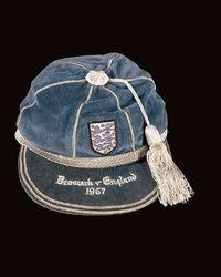 Norman Taylor's England Football Cap v Denmark 1957
