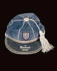 Norman Taylor's England cap v Denmark 1956