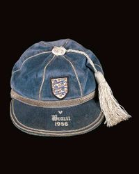 Norman Taylor's England cap v Brazil 1956