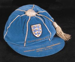 England Football Cap v Switzerland 1970-71-72