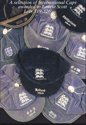 Collection of Laurie Scott's England Football Caps between 1938-1950