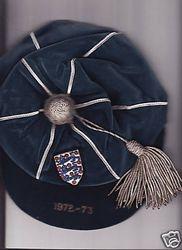 England International Football Cap