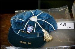 Colin Bell's England cap v Switzerland 1975