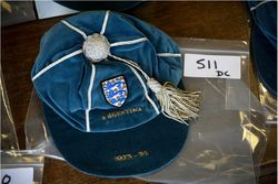 Colin Bell's England cap v Argentina 1973