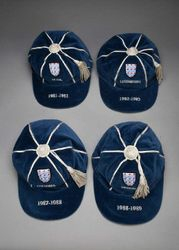 4 England Football Caps for sale at auction 1981-1988