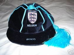 Sam Rickett's England Amateur XI football cap v Belgium 2003