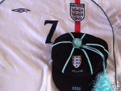 England Amateur XI football cap v Holland 2001