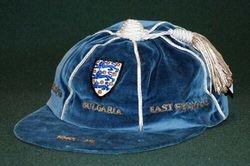 England Football Cap v Bulgaria, East Germany 1973-74
