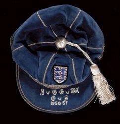 Sir Stanley Matthews' England Home Nations Cap 1956-57