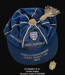 Geoff Hurst's England 1966 World Cup cap