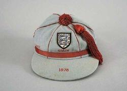 England Youth Football cap v Spain 1978