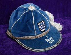 Duncan Edwards' England International Football Cap v Brazil 1956