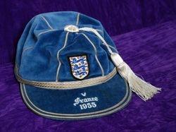 Duncan Edwards' England International Football Cap v France 1955