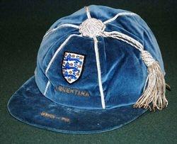 England Football Cap v Argentina 1973