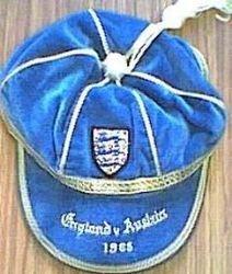 England International Football Cap v Austria 1965