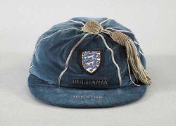 Sir Geoff Hurst's England cap v Bulgaria 1968