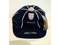 England Football Cap v Hungary 1983