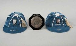Phil Neale's England Football Cap v Italy 1976 & Hungary 1978