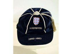 England Football Cap v Luxembourg 1982