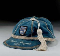 Ray Wilson's England International Football Cap v Spain 1965