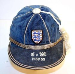 Nat Lofthouse's England International Football Cap v Wales 1958-59