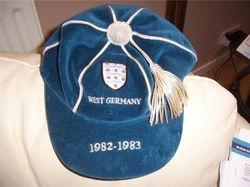 England Football Cap v West Germany 1982