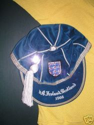 Gordon Banks' England International Football Cap v N.Ireland & Scotland 1966