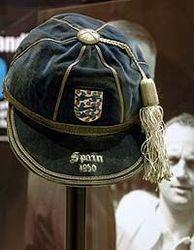 Sir Stanley Matthews' England International Football Cap v Spain 1955