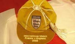 David Beckham's England Football Cap Golden Cap v France 2008
