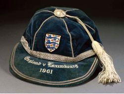 Dennis Viollett's England Football Cap v Luxembourg 1961