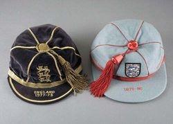 Terry Gibson's England Schools football cap 1977 & England Youth cap 1979