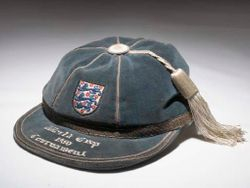 Jimmy Dickson's England football cap 1950 World Cup Tournament