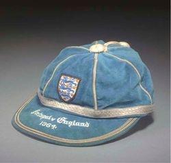 John Byrne's England Football Cap v Portugal 1964