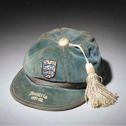 Williams Eckersley's England cap v Austria 1951-52