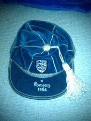 Billy Wright England cap v Hungary 1954
