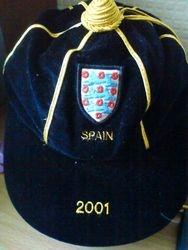 Paul Robinson England Football Cap v Spain 2001