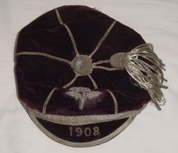 England Rugby Cap 1908