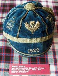 G.P.S. Macpherson Scotland Rugby Cap 1922