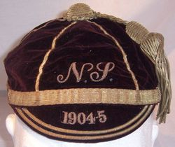 North v South Rugby Cap 1904-5