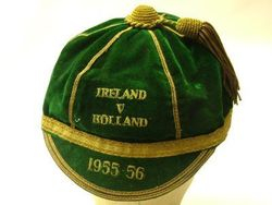 Republic of Ireland Football Cap v Holland 1955-56
