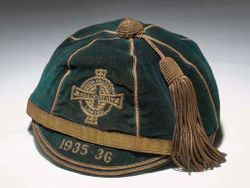 Peter Doherty's Northern Ireland Football Cap 1935-36